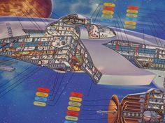 We've already covered Star Wars cross-sections back in Part 1, so it's only fair we cover the Star Trek cross-sections of Christopher and Matt Cushman. Christopher Cushman's story begins with the opening of the first Star Trek movie and the release of a cross-section poster of the Enterprise-A drawn by...