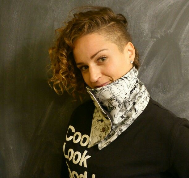 """""""STRONG WOMAN COWL""""  The NicAnn in a Strong women 100% Cotton Outer and a soft Black Cotton Inner"""
