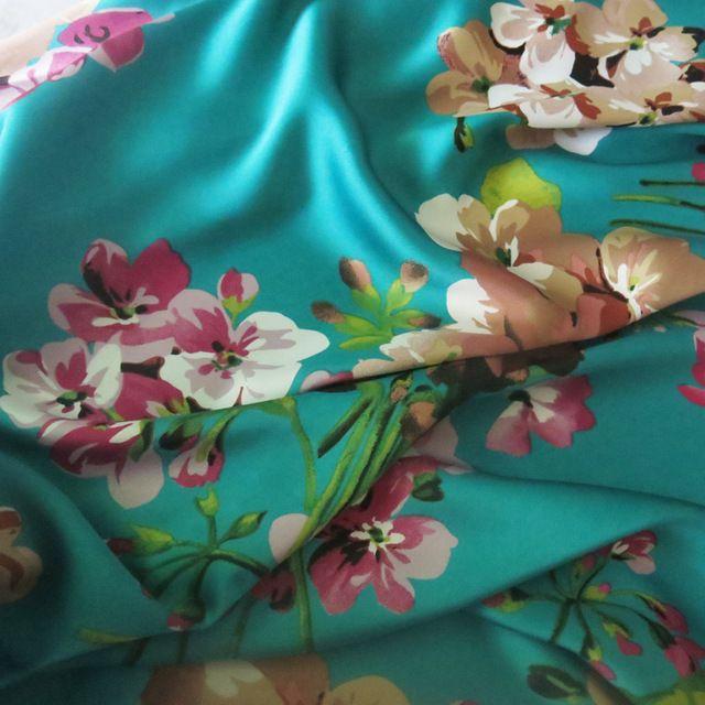100*150 см, Мягкие Свадебные Платья Материал Креп-Сатин Charmeuse Ткань Аквамарин Розовый Бордовый