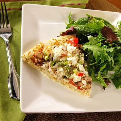 Garlic Chicken Pizza | MyRecipes