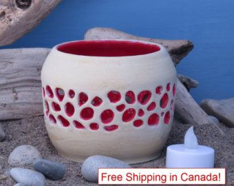Unique Handmade Pottery Candle Holder For By ShiftingSandsPottery