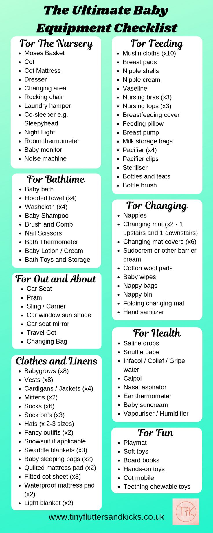 The Ultimate Baby Equipment Checklist Everything You