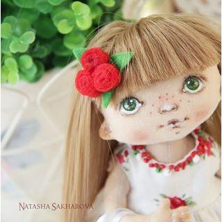 Маленькая Розочка #куклысахаровойнатальи #куклаизткани #текстильнаякукла