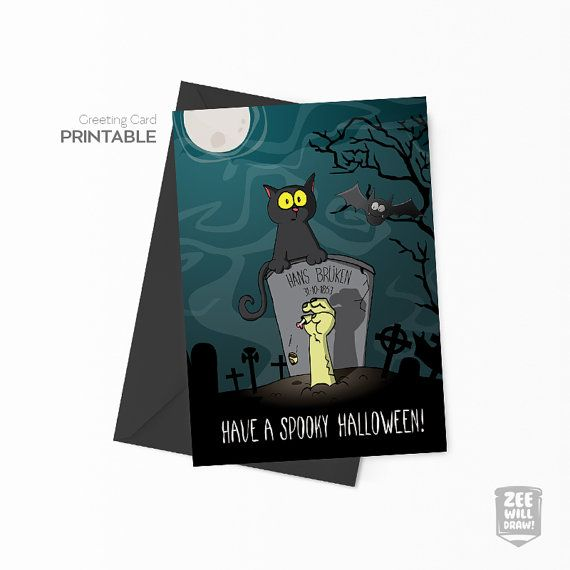 Printable Valentines card Zombie Printable by zeewilldraw on Etsy