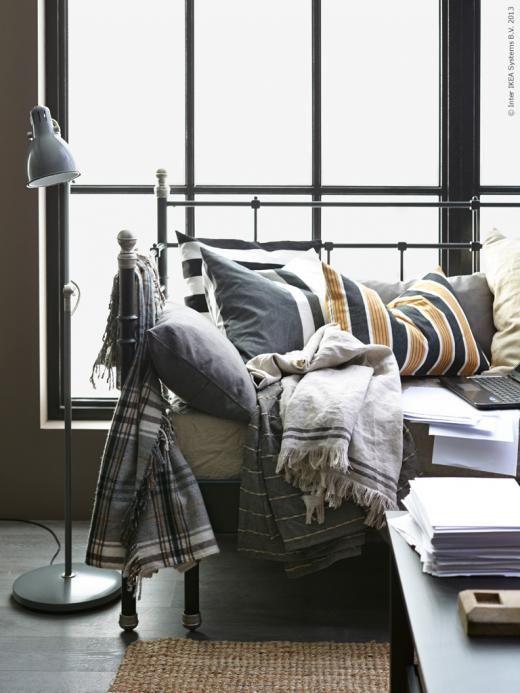 Ikea Day Bed Gloucestershire ~ Oktober mood med inredning i grått, brunt och beige som går ton i