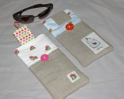 A really nice sunglasses case to make. I'm using the tutorial to make one for my eye glasses and add a cord for my neck - sometimes I need to carry around 2 strengths when I sew.