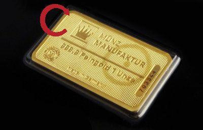 Goldbarren Kippbilder