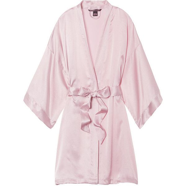 Satin Kimono Very Sexy (66 CAD) ❤ liked on Polyvore featuring intimates, robes, sexy satin robe, sexy kimono, satin bathrobe, robe kimono and satin wrap robe