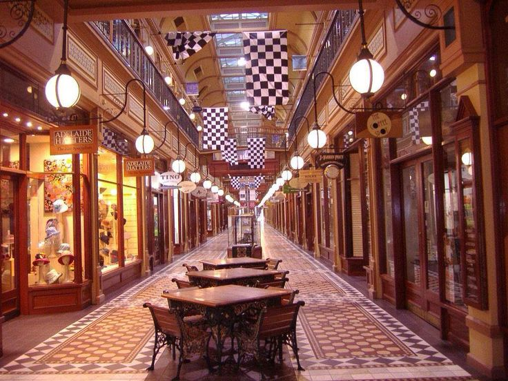 The historic Adelaide Arcade, laneway off Rundle Mall, in the city.
