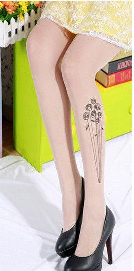 silk stockings funny tattoo transparent high quality