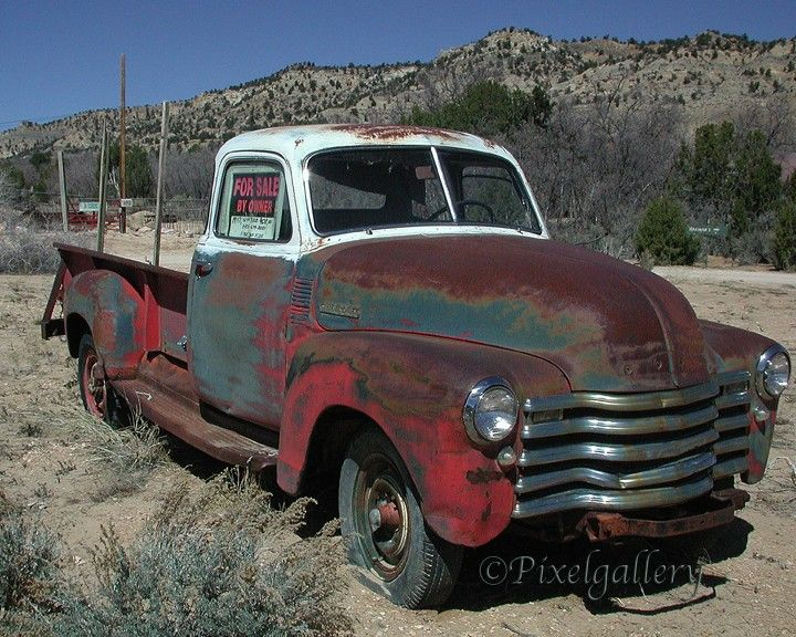 Vintage Rusted 1947 Chevrolet Pick-up Truck - Taos, NewMexico - 8x10 Fine Art Giclee Print. $25.00, via Etsy.
