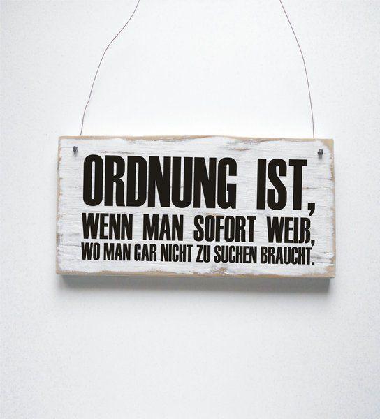 ORDNUNG IST Dekoschild Türschild Shabby von DÖRPKIND auf DaWanda.com ♥ www.doerpkind.de ♥