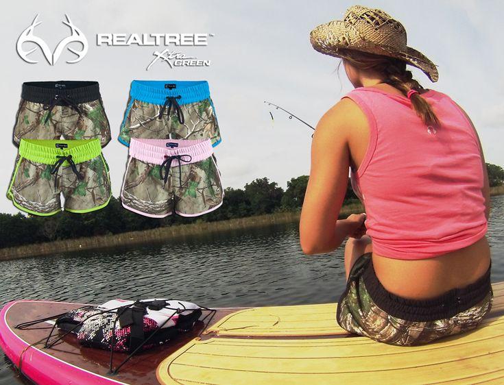 #New Realtree Camo Board Shorts For Women #camoshorts #realtreecamo