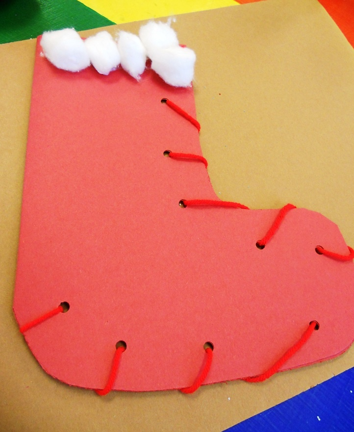 Pre-school Christmas Stocking: Holiday Kids, Christmas Crafts, Christmas Stocking This, Kids Crafts, Pre School Christmas, Christmas Stockings, Christmas Stocking Help, Kids Classroom, Christmas Stocking Small