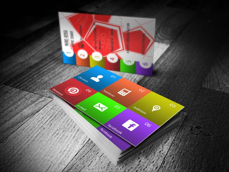 Graphic design business card example