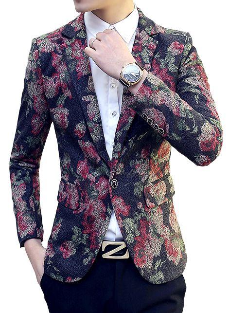 Brilliant Mens #Floral Modern Blazer    www.pilaeo.com #mens #luxury #fashion