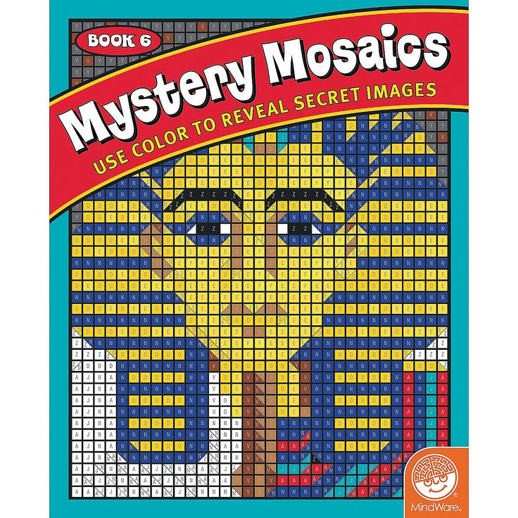 Color By Number Mystery Mosaics Book 6 MindWare
