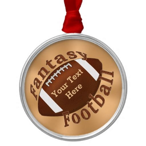 "Personalized Fantasy Football Ornament for an award or gift. Type in Champion, Players Name or Team Name, Legend etc. CLICK HERE: http://www.zazzle.com/cool_personalized_fantasy_football_ornament-175101742108526072?rf=238147997806552929*  Cool Fantasy Football Gifts for Guys and Gals. Vintage golden ornament with cool rustic ""Fantasy Football"" lettering. ALL Custom Football Gifts Zazzle Football Shop Click…"