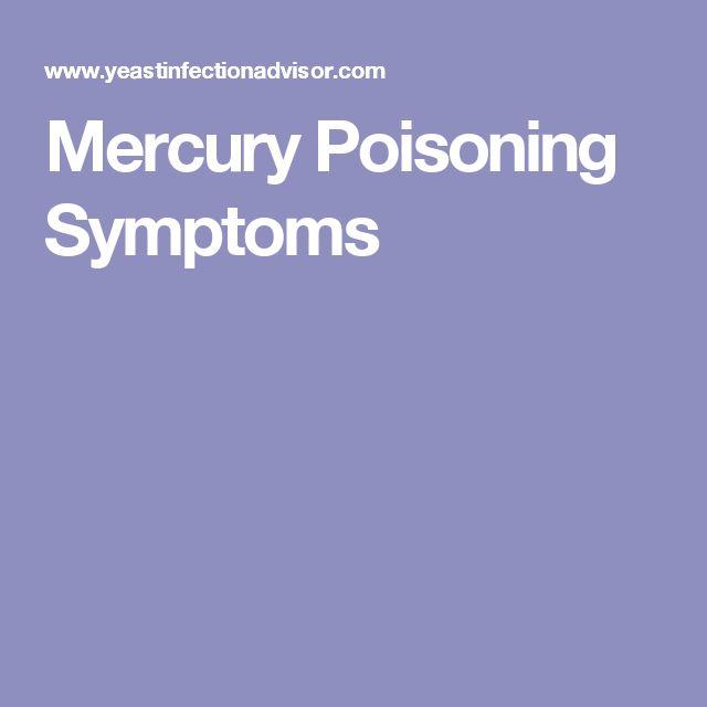 Mercury Poisoning Symptoms