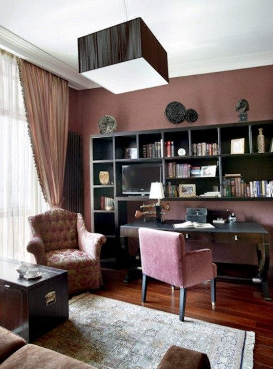 Love The Dark Wood And Dusty Rose Walls Art Deco Decor Best Of Living Room Modern Apartment Integrated With Artdeco Style