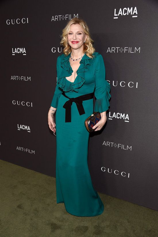 Courtney Love attends the 2016 LACMA Art + Film Gala honoring Robert Irwin and Kathryn Bigelow presented by Gucci at LACMA in Los Angeles, California.