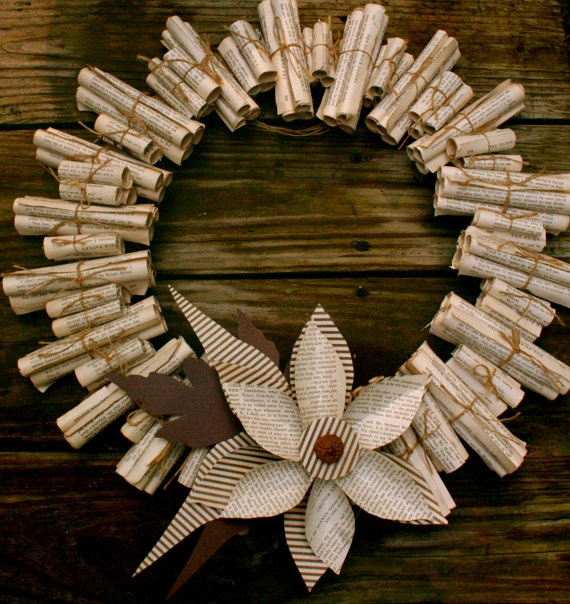 Paper wreath all rolled up