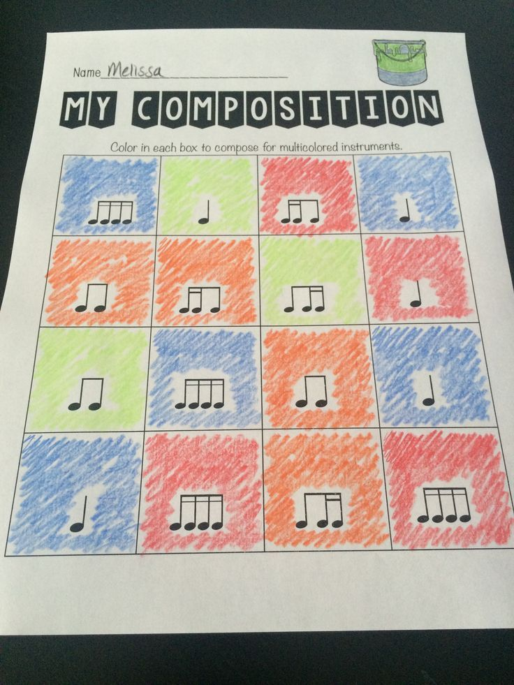 Color composing - CLEVER! #musiceducation #musedchat #elmusiced #kodaly #orff #generalmusic