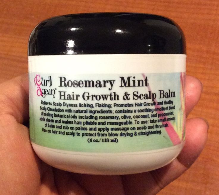 Curl Again Rosemary Mint Hair Growth & Scalp Balm Natural Hair and Scalp Care Products Citrus