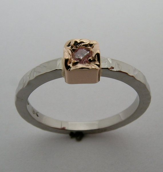 Natural Pink Argyle Diamond Rose Gold and by DanielSommerfeld