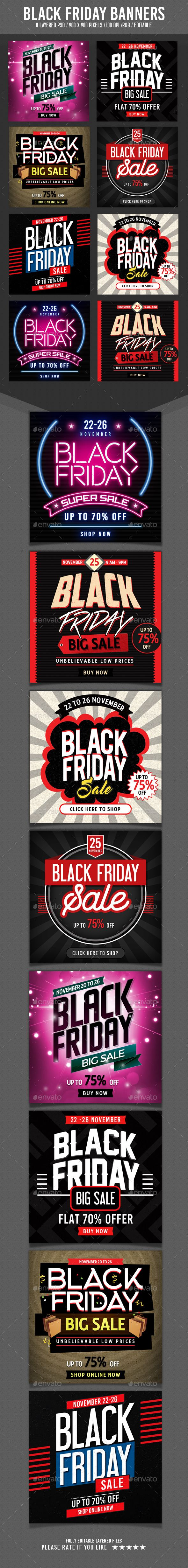 Black Friday Banners Template PSD