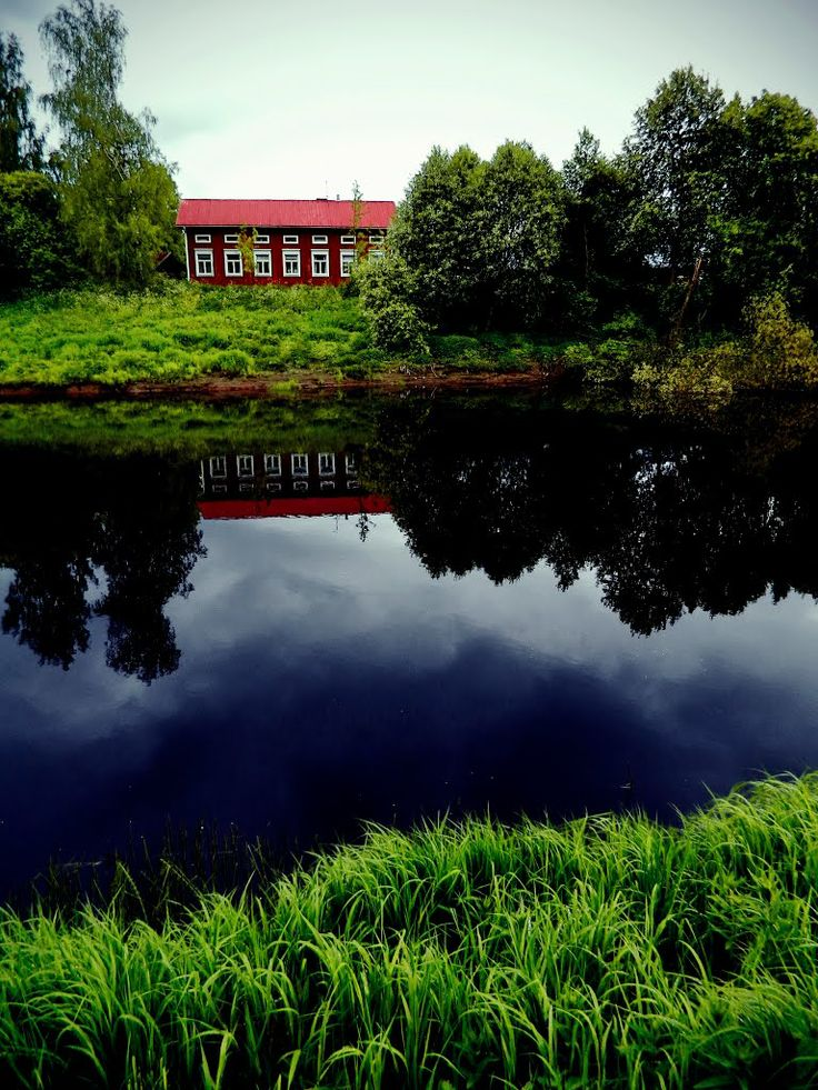 Kyrönjoki river. Röyskölä, Ilmajoki, Finland.