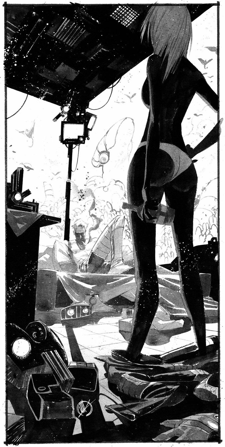 Really great contrast and composition - Black Science #4 | Illustrator: Matteo Scalera