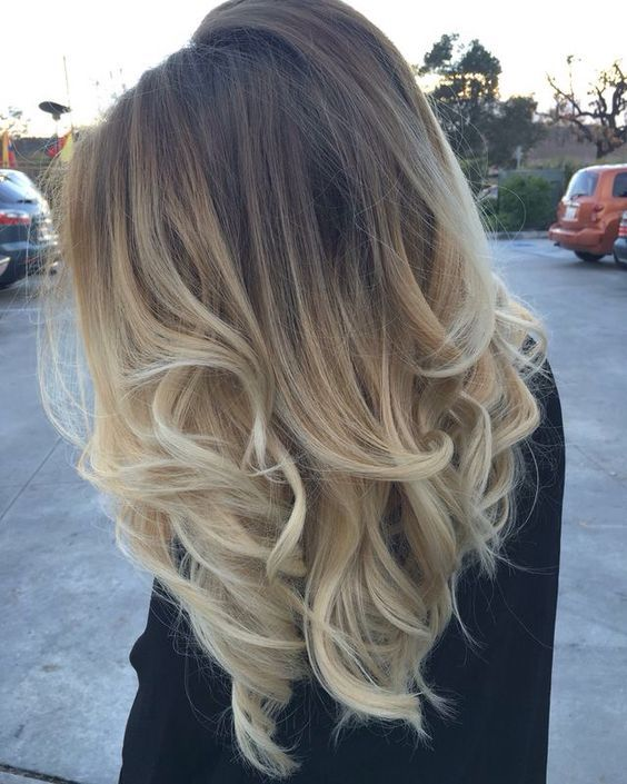 Balayage ombre Brown to Blonde Hair,get more on https://www.ugeat.com/collections/blonde-tone-hair Free shipping and 15% Off.