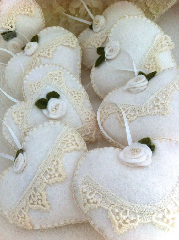 Sachets Wedding Favors Hearts Lavender Scented by LollysCubbyHole