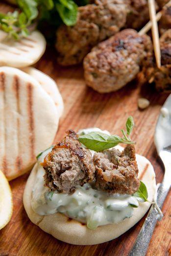 Lamb Kofta with Herbed Tzatziki | Simply Delicious