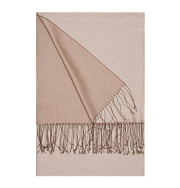 Aker Double-Sided Silk Shawl #381- Light Brown