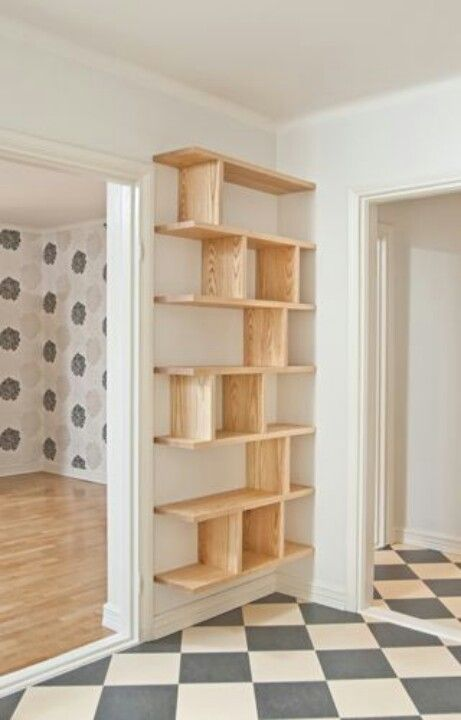 Shelves that could be a big space saver in the girls room.