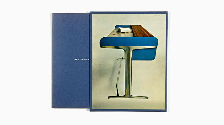 "A desk from Robert Propst and George Nelson's 1968 ""Action Office"" for Herman Miller. Image via hermanmiller.com."