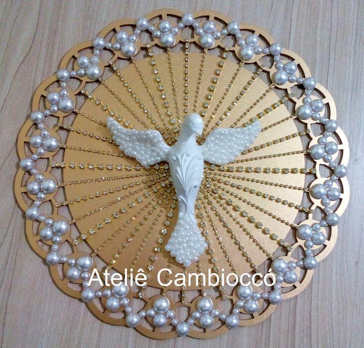 Divino Espírito Santo para decoração. tamanho: 30x30cm