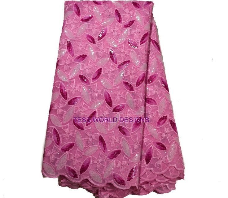 SL58 - Pink Sequins French Lace fabric, 5 yards