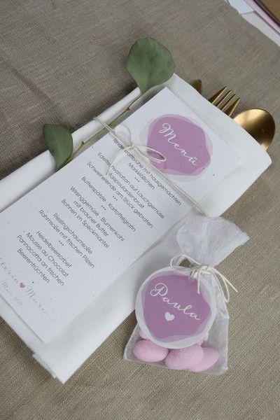 Hochzeitsdeko - Menükarte -Marry- - ein Designerstück von Papiergold bei DaWanda