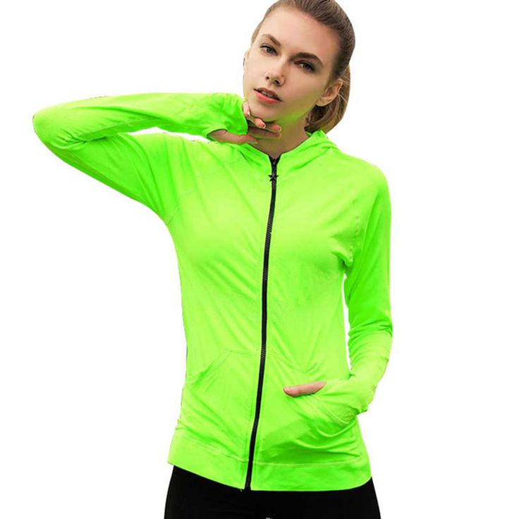 新しい薄い女性夏ランニングジャケットジップパーカースポーツ女性コート春太陽保護上着屋外スポーツジャケットジョギング