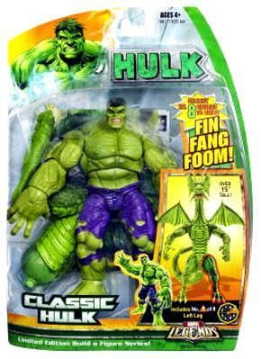 Includes a piece to build the Fing Fang Foom build-a-figure. Classic Hulk Action Figure Marvel Legends Hasbro Toys