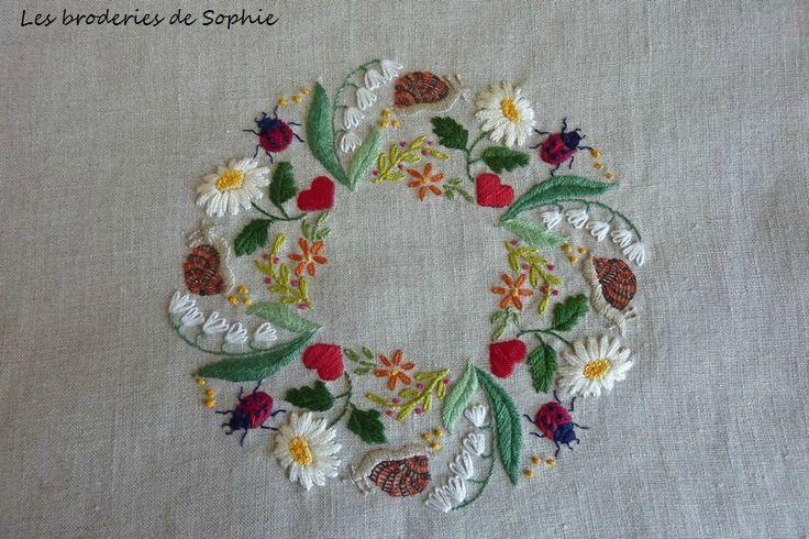 Ronde de printemps - Les Broderies de Sophie