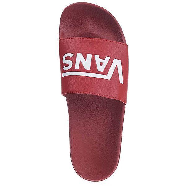 Vans Slide-On Sandals Red ($12) ❤ liked