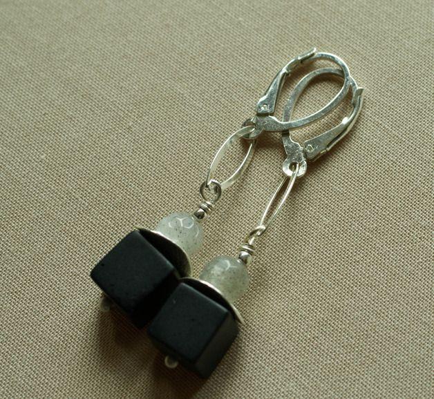 Silver Earrings – 925 Silver Onyx Earrings -Tilia – a unique product by Tilia_ on DaWanda