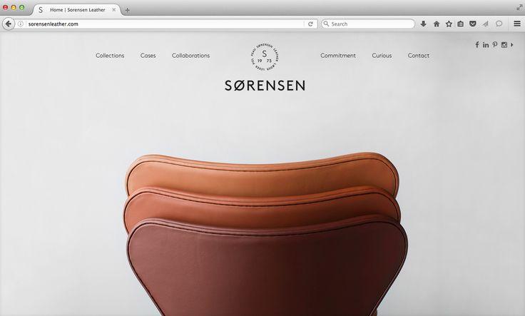 Arne Jacobsen's Series 7™ Chair / Fritz Hansen stacked and viewed from the back. Sorensen Leather: Avenue. Photo: Jonas Bjerre-Poulsen. #arnejacobsen #fritzhansen #NORMarchitects