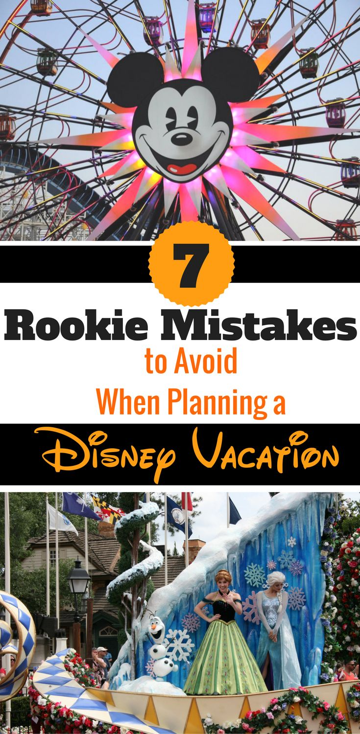 Disney World Tips and Tricks | Great advice in this post about the top 7 mistakes first-timers often make when planning a Disney Vacation