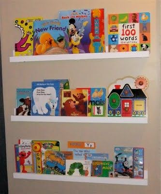 Easy to make bookshelves for the boys!