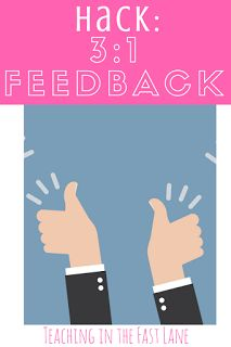 Hack the magic 3:1 positive feedback to encourage students and tap into their potential.